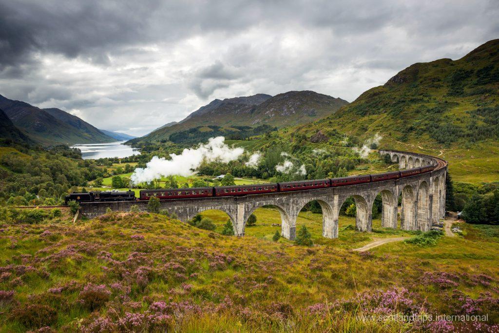 Glenfinnan Viaduct Harry Potter Train Tren Tours Escocia Scotland Scotlandtrips