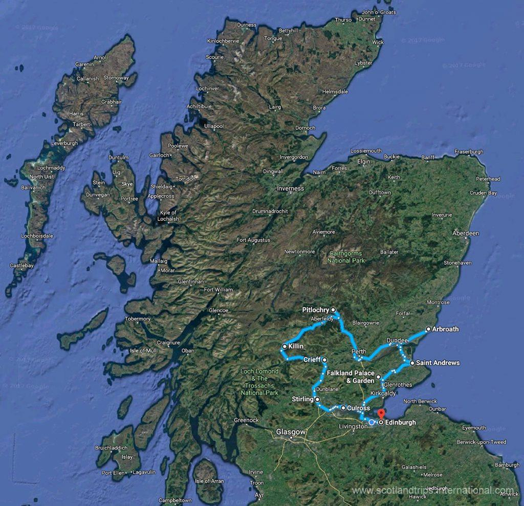 MAP-Tour-The-Kingdom-of-Fife-Perthshire