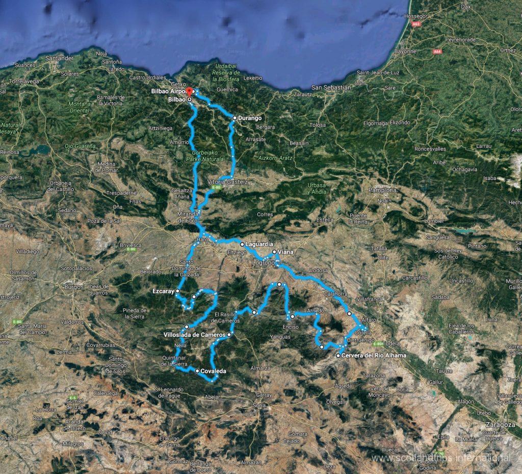 MAP-Tour La Rioja