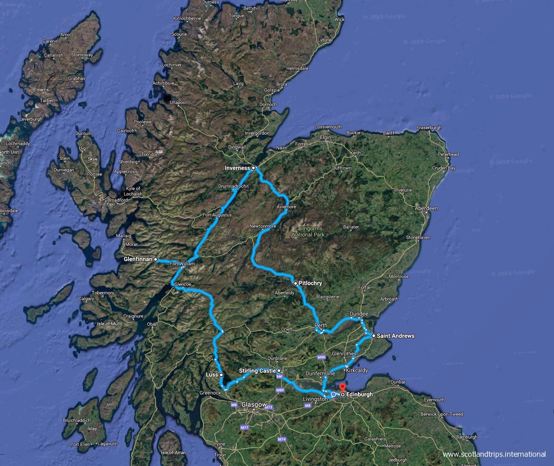 Mapa-Tour-Navidades-en-Escocia-Hogmanay-Scotlandtrips-International